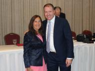 Treasurer Deb Goldberg and Shawn Duhamel