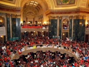 Wisconsin Parallels Seen In Local Health Care Fight